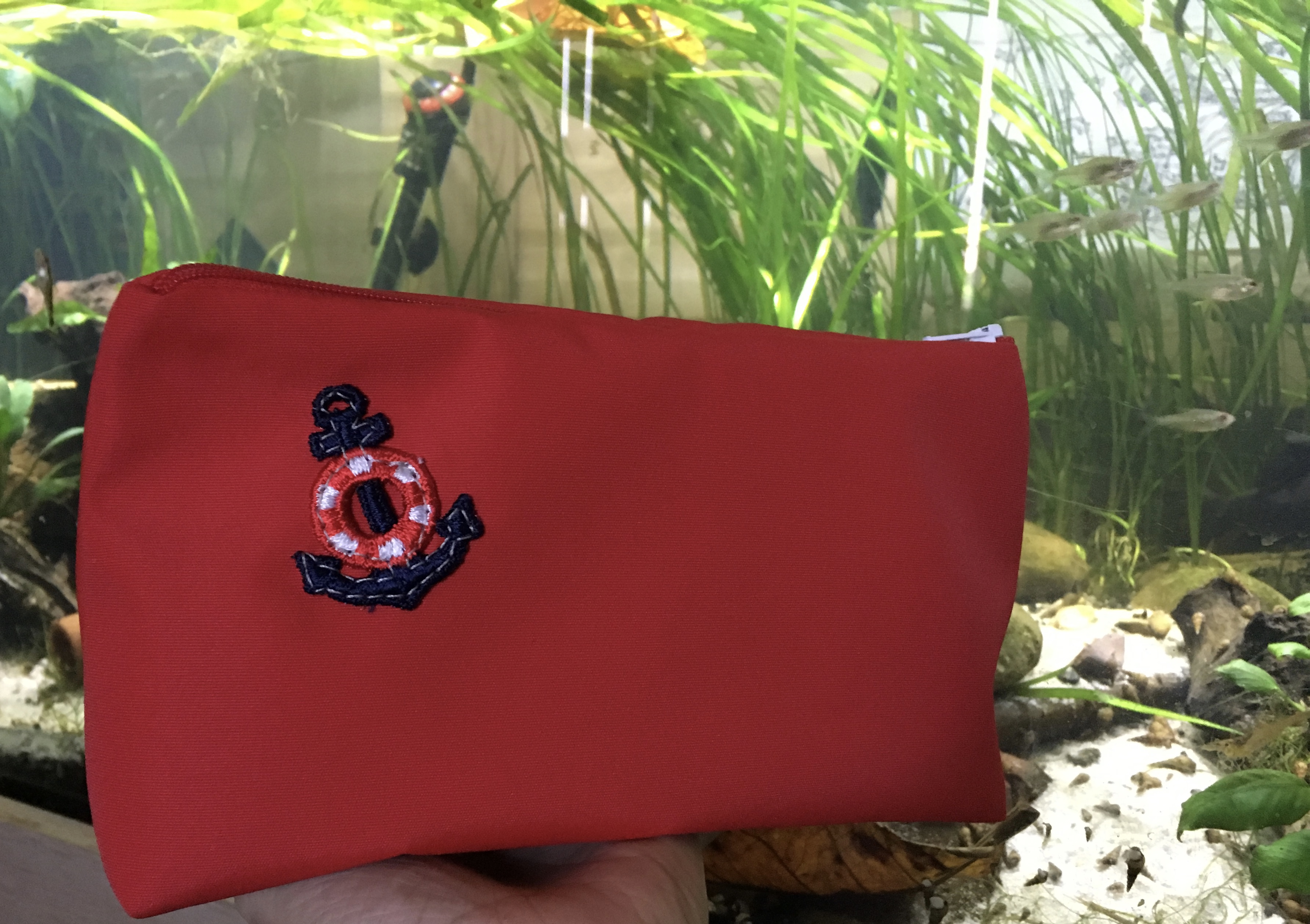 Anchor Pouch - red