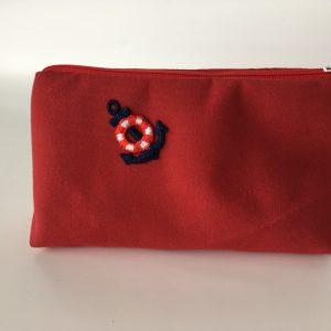 Anchor zip pouch