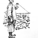 Comb Seller, Drawn by Dorothy Worchester