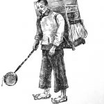 Haberdashery Peddler, Drawn by Dorothy Worchester 1943
