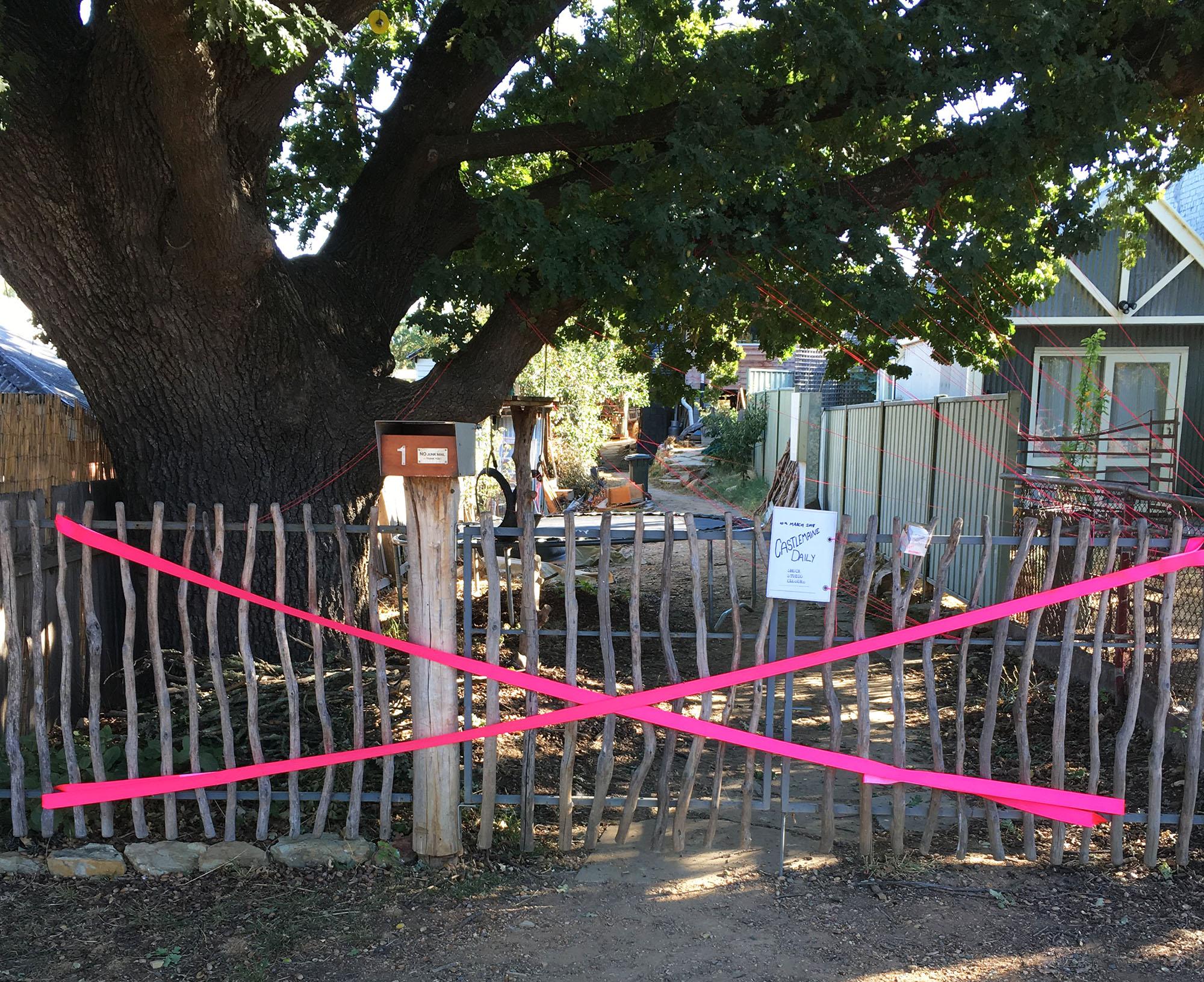 CiPi studio closure - gate barricade